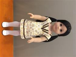 Melangell verified customer review of Art Deco Dress 18 Doll Clothes Pattern