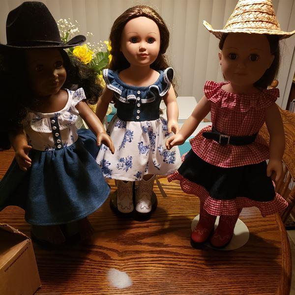 Christine Brown verified customer review of A Lil' Bit Country: Dress, Top, Skirt and Belt Set 18 Doll Clothes
