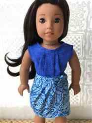 Heather M. verified customer review of Aloha Pleated Top and Dress 18 Doll Clothes Pattern