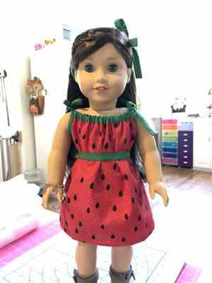 Melinda verified customer review of Drawstring Dress 18 Doll Clothes