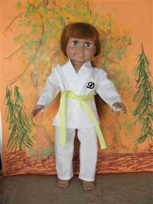 marjorie b. verified customer review of Karate Uniform 18 Doll Clothes