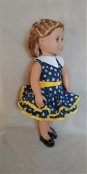 Pixie Faire 1930's Ruffled Play Dress 18 Doll Clothes Pattern Review