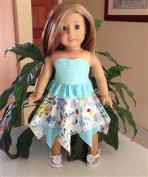 Pixie Faire Handkerchief Skirt 18 Doll Clothes Review