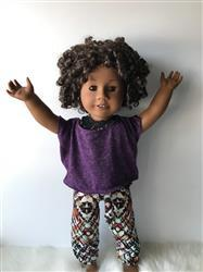 Pixie Faire Off The Shoulder Tee 18 Doll Clothes Pattern Review