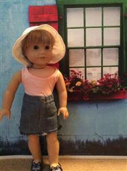 Mae L. verified customer review of Denim Mini Skirt 18 Doll Clothes Pattern