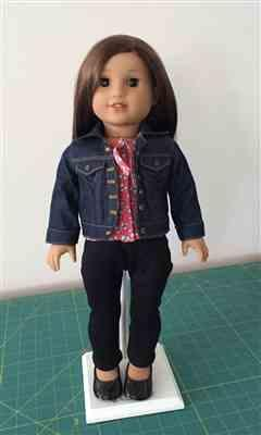 Barbara Toop verified customer review of Denim Jacket 18 Doll Clothes Pattern