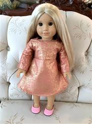 VIrginia  verified customer review of Frozen Hot Chocolate Holiday Dress 18 Doll Clothes Pattern