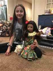 Nancy H. verified customer review of Aloha Holoku Dress 18 Doll Clothes Pattern