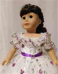Crystal B verified customer review of 1850's Summer in Blue Dress 18 Doll Clothes Pattern