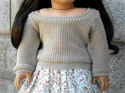Lizzy verified customer review of Pullover Sweater 18 Doll Clothes Pattern