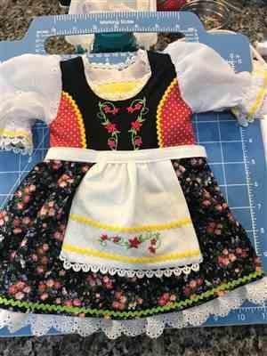 Elizabeth M. verified customer review of Precious Pinafores Machine Embroidery Design Set For 18 Doll Clothes