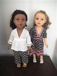 Linda L verified customer review of Killara Dress and Lightning Ridge Top 18 Doll Clothes Pattern