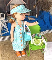 Pixie Faire Endless Summer Halter Dress & Top 14.5 Doll Clothes Pattern Review