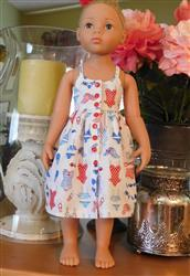 Andrea T. verified customer review of Endless Summer Halter Dress & Top Pattern for Kidz N Cats and 19 Gotz Dolls
