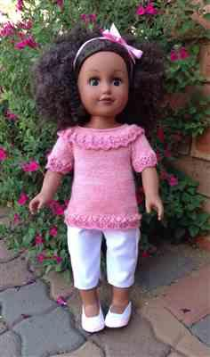 Anne-Marie Sund verified customer review of Refined & Ruffled 18 Doll Knitting Pattern