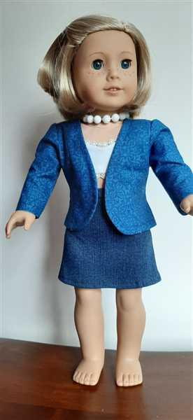 Diane Atkins verified customer review of Perfectly Plaid Jacket 18 Doll Clothes Pattern