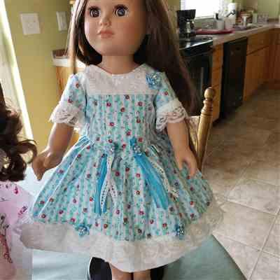 Christine Brown verified customer review of The Lovely V-Waist Dress 18 Doll Clothes Pattern