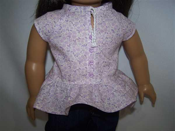 Jill verified customer review of Kings Canyon Peplum Top 18 Doll Clothes Pattern