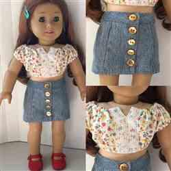 Hope F. verified customer review of Button Front Mini Skirt 18 Doll Clothes pattern