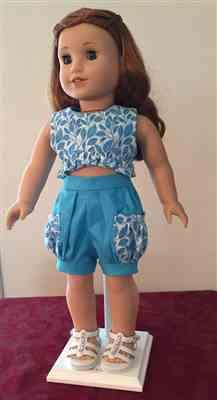 Barbara T. verified customer review of Bloomer Shorts and Ruffled Crop Top 18 Doll Clothes Pattern