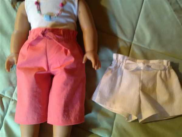 Pixie Faire Summer Picnic Capris and Shorts 18 Doll Clothes Pattern Review