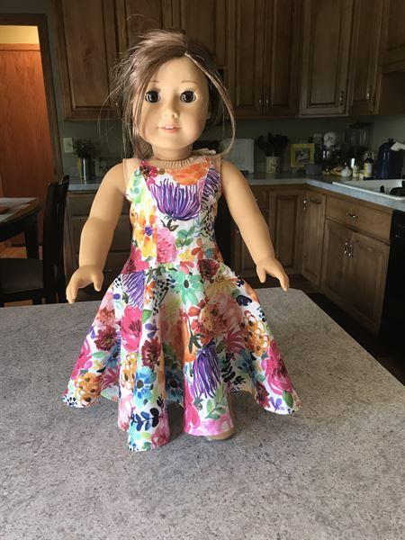 Sherry Conaway verified customer review of Serenade Maxi Dress 18 Doll Clothes Pattern
