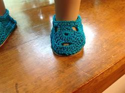 Linda G verified customer review of Sofia Crocheted 18 Doll Shoes