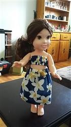 Marie-Eve Desjardins verified customer review of Hawaiian Pa'u Hula Outfit for 13-14.5 Dolls