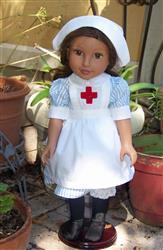 Pixie Faire Edith  WW1 VAD Nurse Uniform 18 Doll Clothes Pattern Review