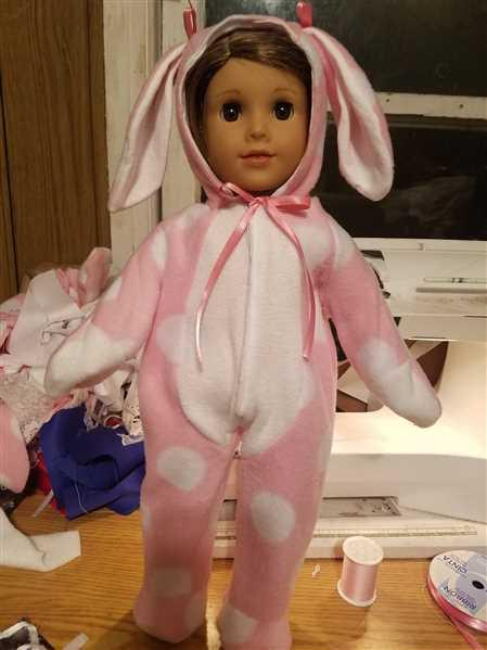 Kathy verified customer review of Hoppity Easter Bunny Outift 18 Doll Clothes Pattern