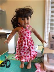 Wilma L. verified customer review of Simply Summer Sundress 18 Doll Clothes Pattern