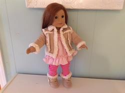 Tracy J. verified customer review of Chilly Day Sherpa Coat And Boots 18 Doll Clothes Pattern