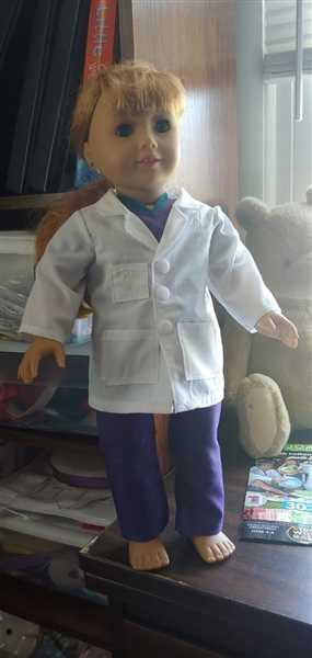 Pixie Faire Doctor's Lab Coat 18 Doll Clothes Review