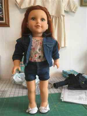 Pixie Faire High-Waisted Jeans 18 Doll Clothes Pattern Review