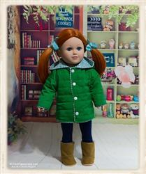 Guyaline F. verified customer review of Quilted Parka Bundle 18 Doll Clothes Pattern
