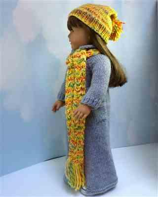 Pixie Faire Richelle's Maxi Coat & Scarf 18 Doll Knitting Pattern Review