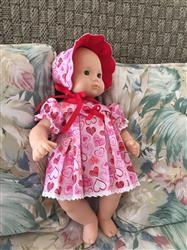 Priscilla T. verified customer review of Scalloped-Yoke Dress and Bonnet 15 Doll Clothes