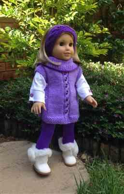 Anne-Marie Sund verified customer review of Pearly Poncho 18 Doll Knitting Pattern