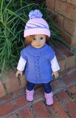 Anne-Marie Sund verified customer review of Swirly Cupcake Beanie 18 Doll Knitting Pattern