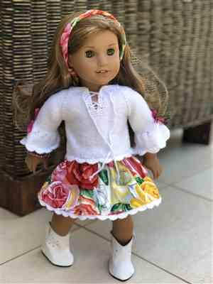 Hannah W verified customer review of Country Rose Dress Knitting and Sewing 18 Doll Clothes Pattern
