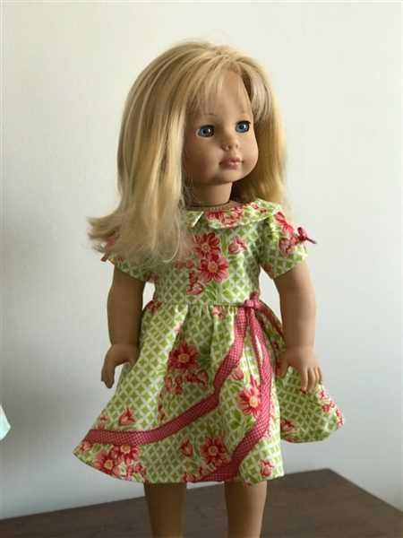 Pixie Faire 1950s Circle Swirl Dress 18 Doll Clothes Pattern Review