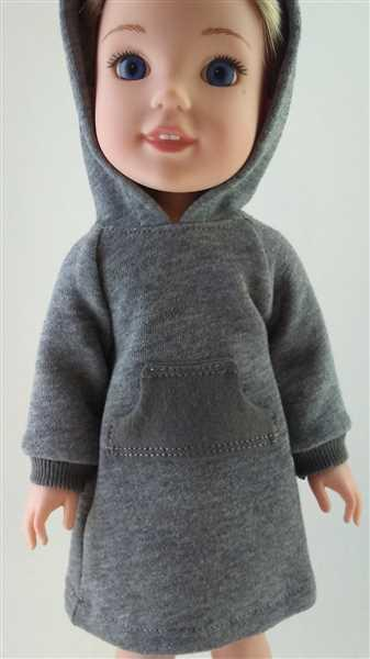 Pixie Faire Hoodie Dress 14-15 Doll Clothes Pattern Review