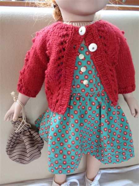 Pixie Faire Bristol Cardigan 18 Doll Clothes Knitting Pattern Review