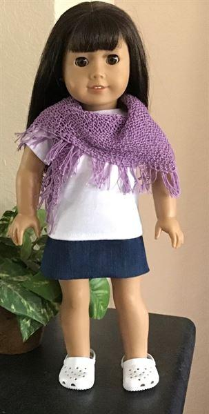 Pixie Faire Waverley Fringe Scarf 18 Doll Clothes Knitting Pattern Review