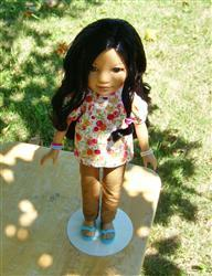 Charlene verified customer review of Skinny Jeans and Shorts Pattern for Les Cheries and Hearts For Hearts Girls Dolls