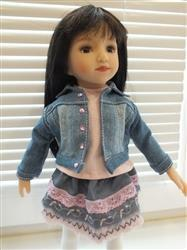 Veronica G. verified customer review of Denim Jacket Pattern for AGAT Dolls