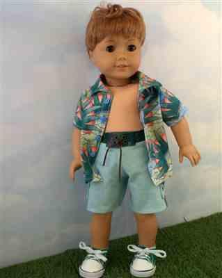 Michele Groberman verified customer review of Surf's Up Board Shorts 18 Doll Clothes Pattern