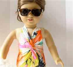 Hope Francis verified customer review of The Peppermint Twist Swimsuit & Sarong Wrap 18 Doll Clothes