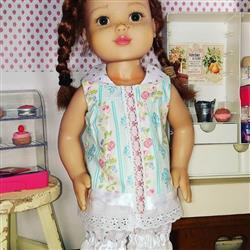 Stephanie C. verified customer review of Summer Camp Collection: Mock Button-Front Shirt 18 Doll Clothes