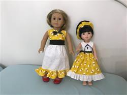 Bush verified customer review of Sugar n Spice & Everything Nice Dress & Pinafore with Dress Up Accessories 14.5 Doll Clothes Pattern
